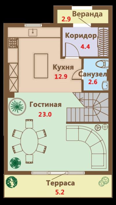 Чертеж 1 этаж