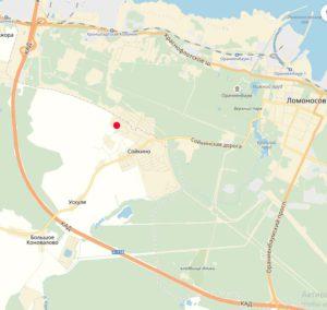 Расположение поселка Ломоносовская усадьба на карте