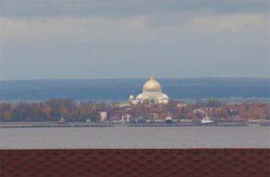 Вид из окон на финский залив
