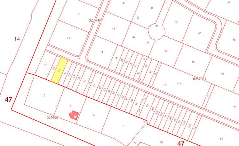 Кадастровая схема размещения участков в Ломоносовской усадьбе