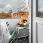 Обустройство маленького балкона. Вариант 4