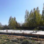 Фундамент под ТХ7 в Ломоносовской усадьбе готов