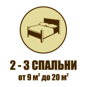 2 - 3 спальни в таунхаусах