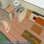 перенос кухни в зону гостиной