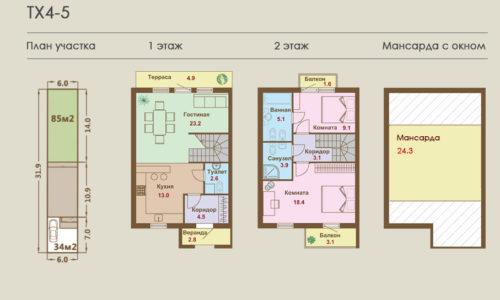 Дома от 118 кв.м. - от 4,997 млн.р