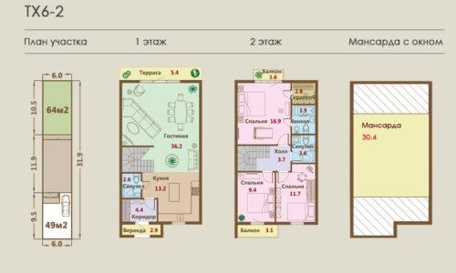 Дома от 147 кв.м. - от 6,386 млн.р
