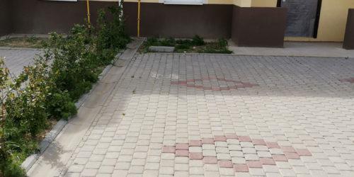 Благоустроенный участок перед домом в Ломоносовской усадьбе