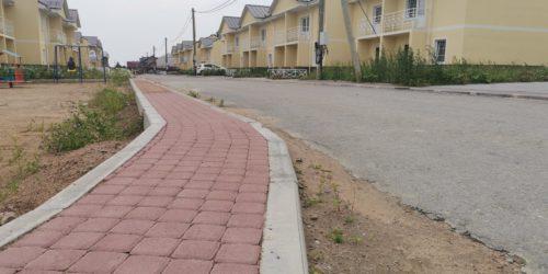 Асфальтовые дороги и тротуары в Ломоносовской усадьбе