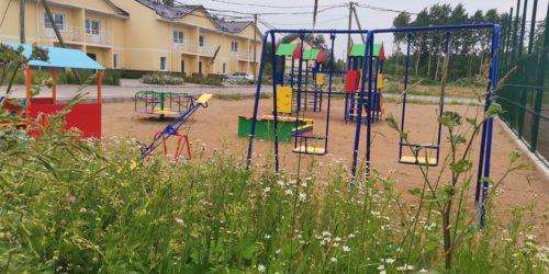 Детская площадка в Ломоносовской усадьбе