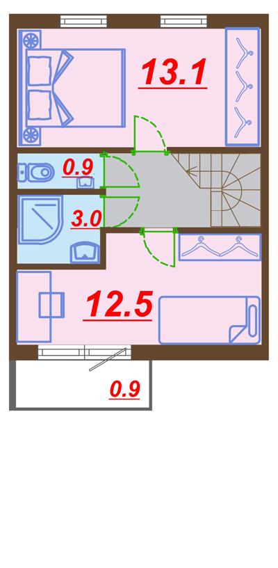 Чертеж 2 этаж