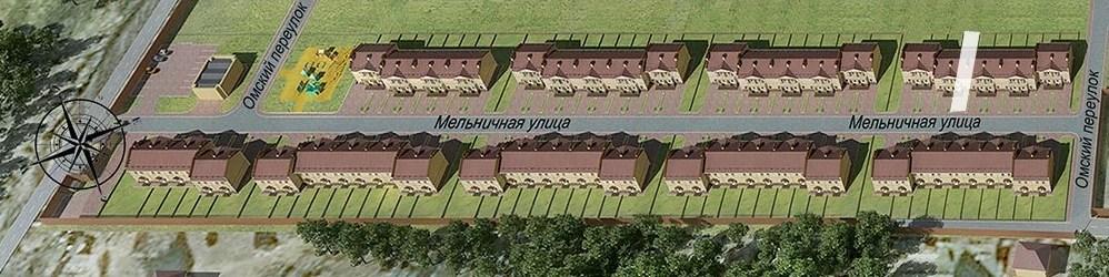 Расположение таунхауса в доме и на генплане