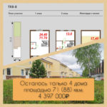 Осталось 4 дома за 4,4 млн.р